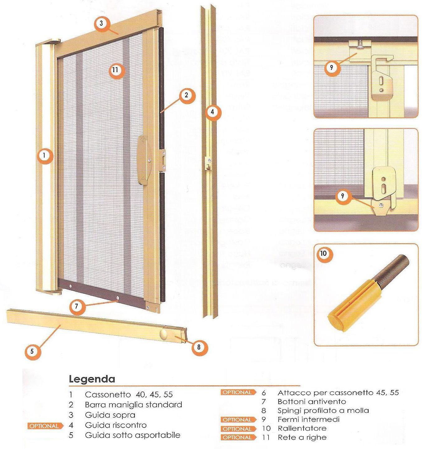 Zanzariere scorrevole laterale - Zanzariere scorrevoli per porte finestra ...